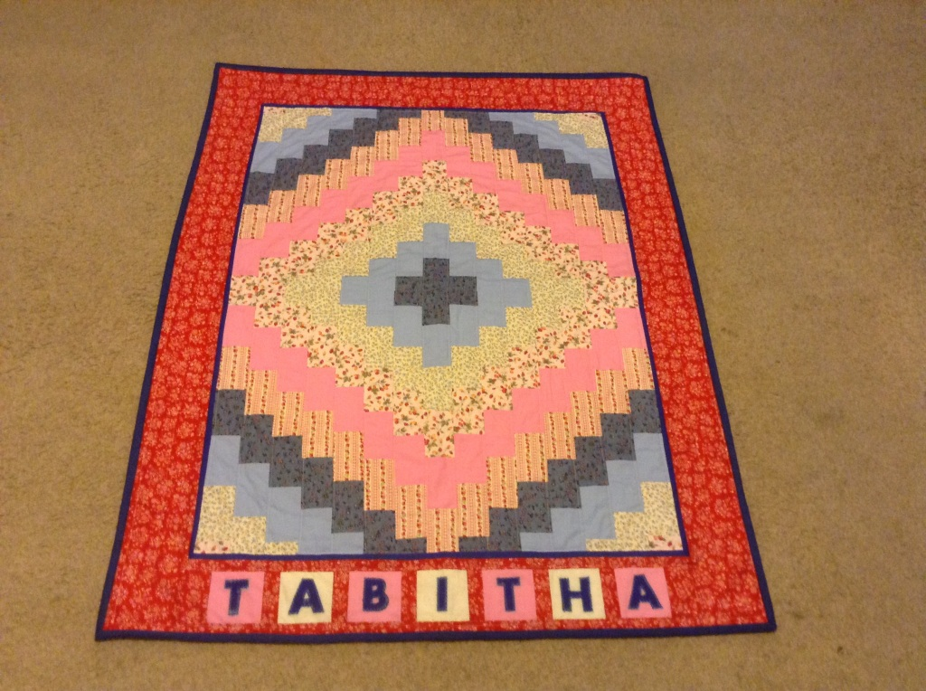 Traditional 'Round the World' quilt