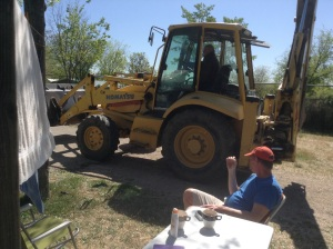 Digger in the campsite
