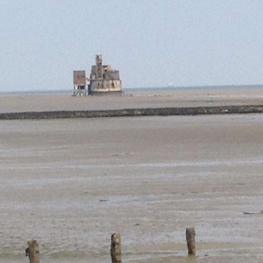 Grain Tower viewed from the Grain Coastal Path