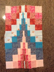 Barcello Quilt panel, as made with Kate Higgins in workshop at Hometown, Rochester